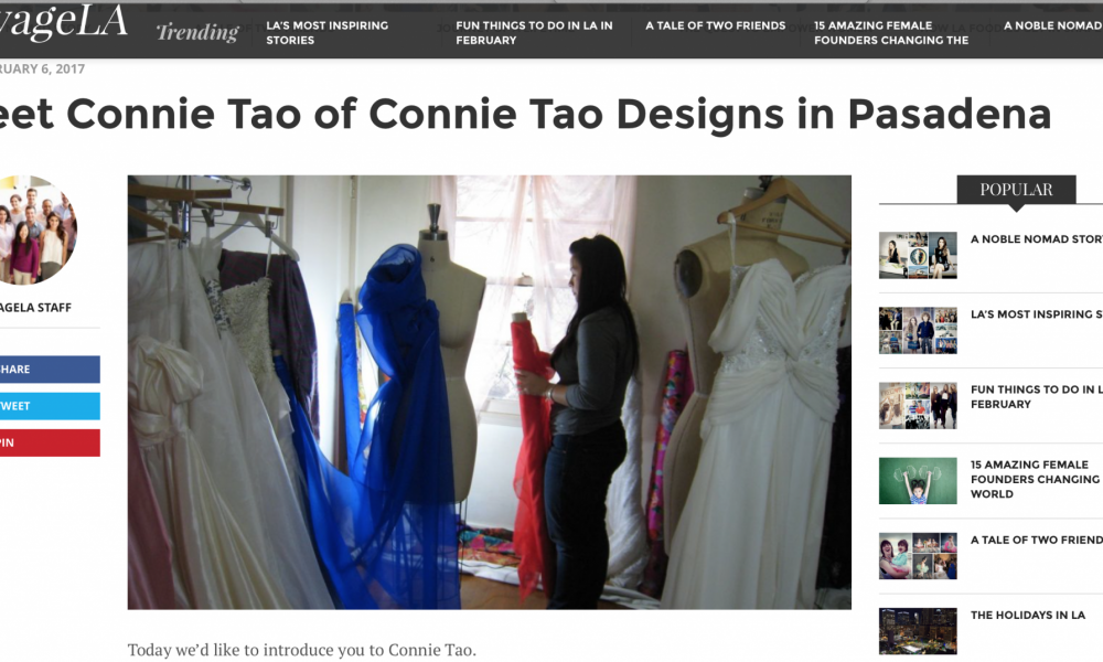 Voyage LA Connie Tao Designs