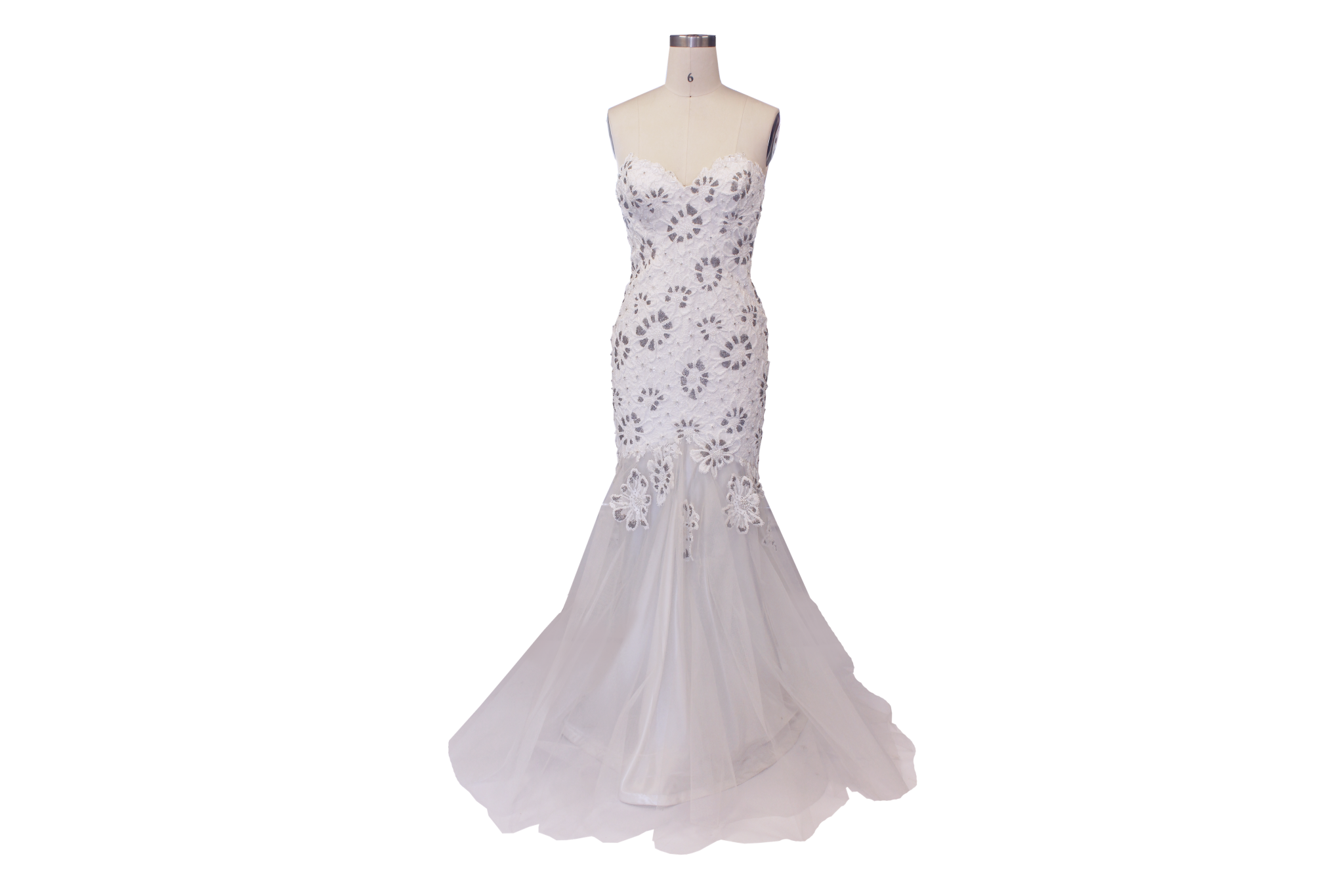 Strapless Mermaid Wedding Gown: Strapless Beaded Mermaid Silhouette Gown